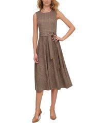 calvin klein plaid a-line dress