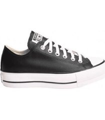 zapatilla negra converse lift ox clean leather