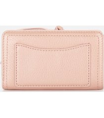 marc jacobs women's compact wallet - pearl blush