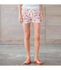 tolani karla embroidered shorts