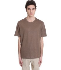 ermenegildo zegna t-shirt in brown linen