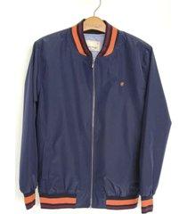 chaqueta bomber para hombre delascar - azul ch015