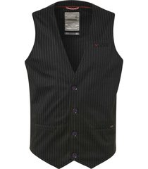 no excess gilet, yd stripe jersey, un lined, black