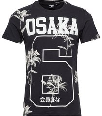 super 5's tee t-shirts short-sleeved svart superdry