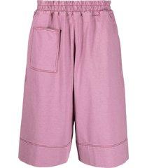 jil sander multi-pocket track shorts - pink