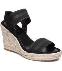 cat sandalette med klack espadrilles svart dkny
