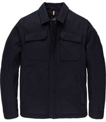 zip jacket coarse twill aceroad navy