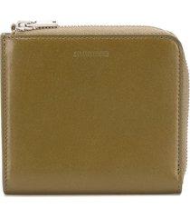 jil sander square-shape wallet - green