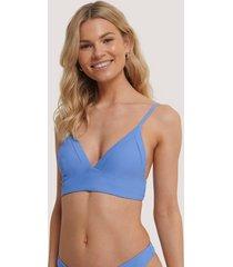 na-kd swimwear bikiniöverdel - blue