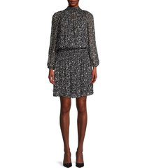 velvet women's kristen shirred dress - navy - size xl