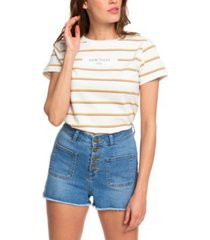 roxy juniors' frayed denim shorts