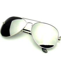 original silver polarized full mirror aviator sunglasses