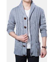 cardigan casual lavorato a maglia monopetto invernale caldo cappotto spesso maglione