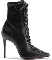 tennie bootie - 10 black faux leather