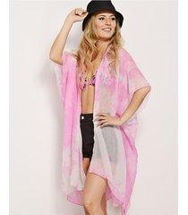 kimono fucsia nuevas historias batik color la134-20f