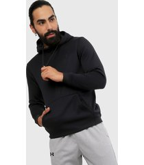 buzo negro under armour fleece po hoodie