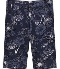 bermuda aloha color azul, talla 32