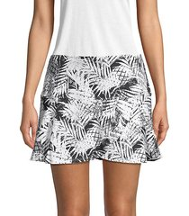 lilo tropical-print tennis skirt