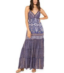 raga micah printed v-neck maxi dress