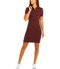lacoste slim-fit stretch pique polo dress