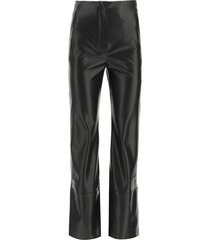 nanushka rhyan trousers in vegan leather