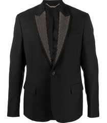 john richmond stud-embellished blazer - black