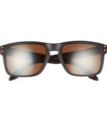 oakley holbrook 57mm sunglasses in black brown at nordstrom