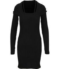 helmut lang fine rib knit dress