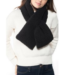 inc faux-sherpa pull-through muffler scarf, created for macy's