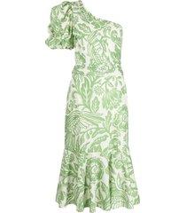 johanna ortiz orchid dance one-shoulder dress - neutrals