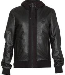 philipp plein soft leather jacket