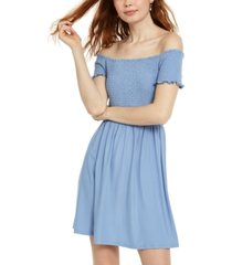 planet gold juniors' off-shoulder dress