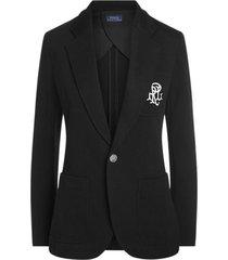chaqueta double-knit jacquard negro polo ralph lauren