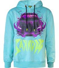 barrow light blue cotton hoodie