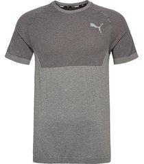 rtg evoknit basic tee t-shirts short-sleeved grå puma