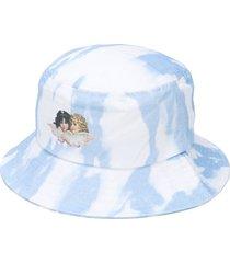 fiorucci tie-dye bucket hat - blue