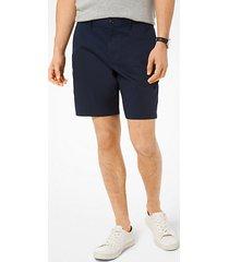 mk shorts in popeline delavé - notte (blu) - michael kors