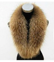 natural winter dress women's genuine real raccoon fur collar scarf shawl wrap