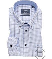 ledub geruit overhemd strijkvrij blauw