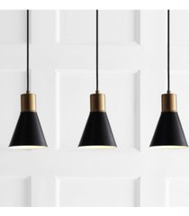 "jonathan y apollo 33.5"" 3-light adjustable modern metal led pendant"