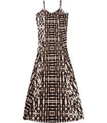 inc batik-print maxi dress, created for macy's