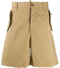 dsquared2 flap pocket shorts - neutrals