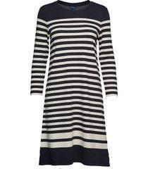 d1. striped shift dress jurk knielengte blauw gant