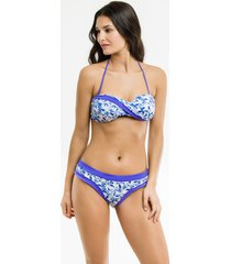 bikini azul mare moda ornamento lavanda