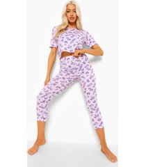 vlinder pyjama set met leggings, pink
