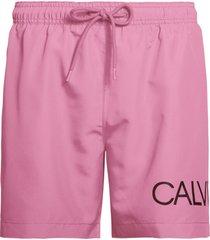 calvin klein heren zwembroek drawstring - roze-s