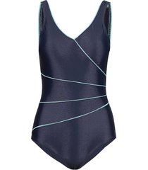 swimsuit daniella classic baddräkt badkläder blå wiki