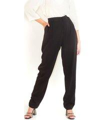 pantalón tipo cullote color negron tiro alto con cierre delantero color-negro-talla-6