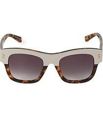 50mm squared cat eye sunglasses