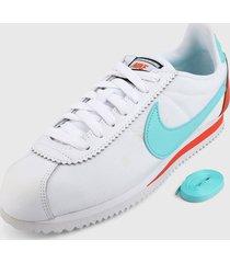 tenis lifestyle blanco-azul-naranja nike
